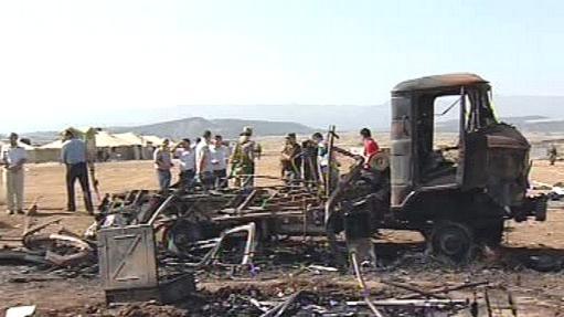 Následky výbuchu v Dagestánu