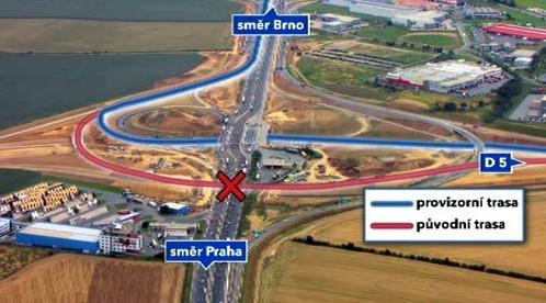 Problematická křižovatka Pražského okruhu
