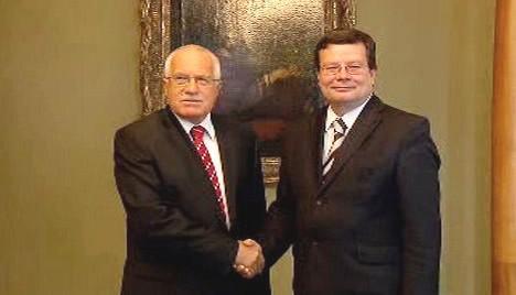 Václav Klaus a Alexandr Vondra