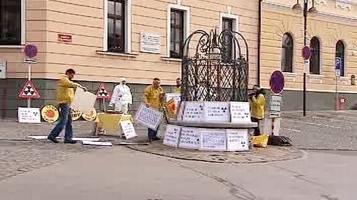 Protestní akce proti Temelínu