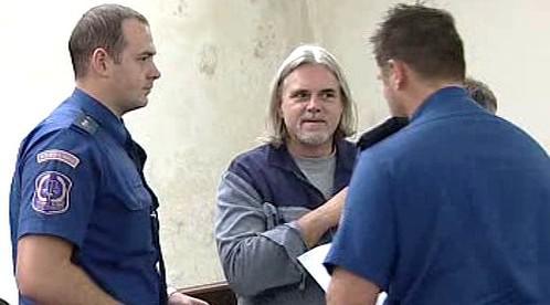 Karel Srba u plzeňského soudu