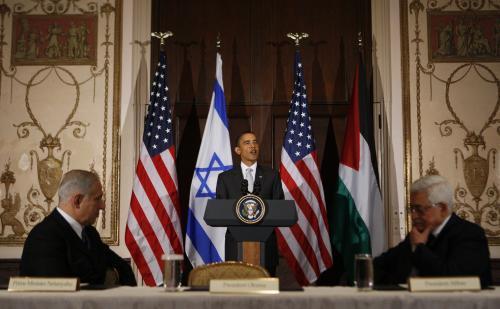 Benjamin Netanjahu, Barack Obama a Mahmúd Abbás