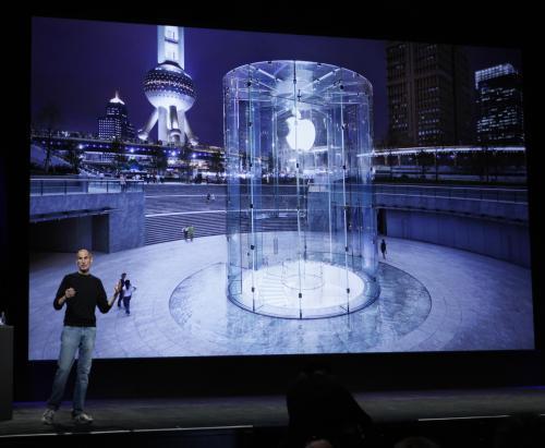 Steve Jobs na prezentaci v San Franciscu