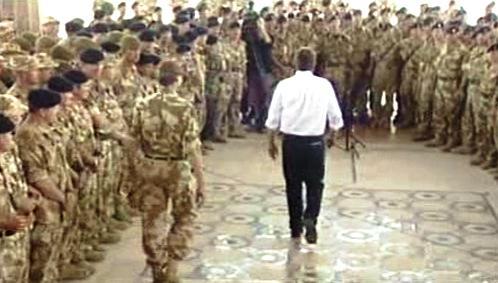 Tony Blair u britských vojáků