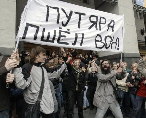 Opoziční demonstraci proti porušování článku 31 ruské ústavy