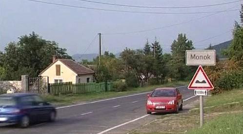 Maďarské městečko Monok