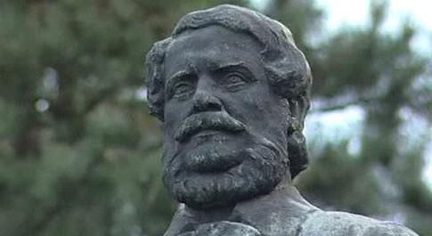 Socha maďarského spisovatele Lajose Kossutha