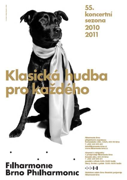 Filharmonie Brno / plakát s novým logem