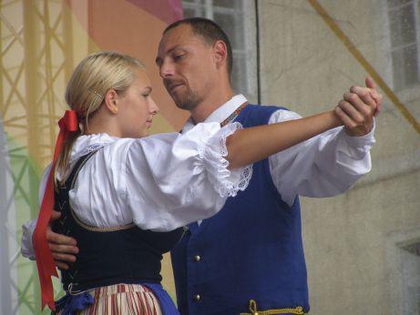 Z vystoupení folklorního souboru Špindleráček v Praze