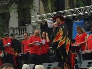 Protestní mítink na podporu Rierové