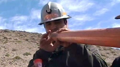 Šachta, díky které se lze dostat k chilským horníkům