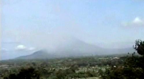 Vybuchlá sopka na Sumatře