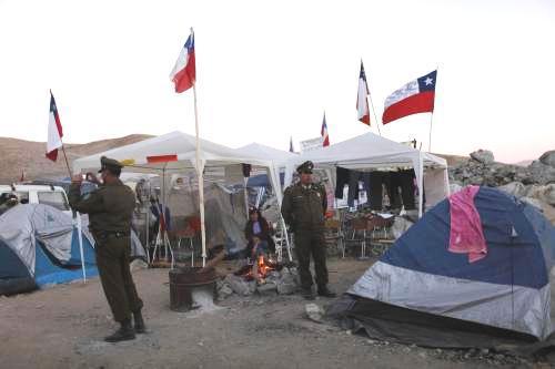 Tábor příbuzných chilských horníků