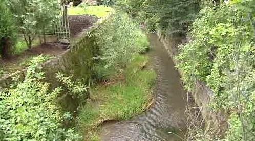 Potok v obci Třebycinka