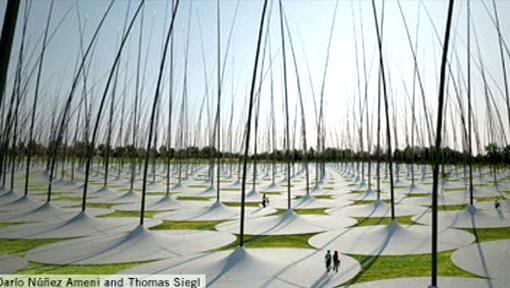 Stéblová větrná elektárna