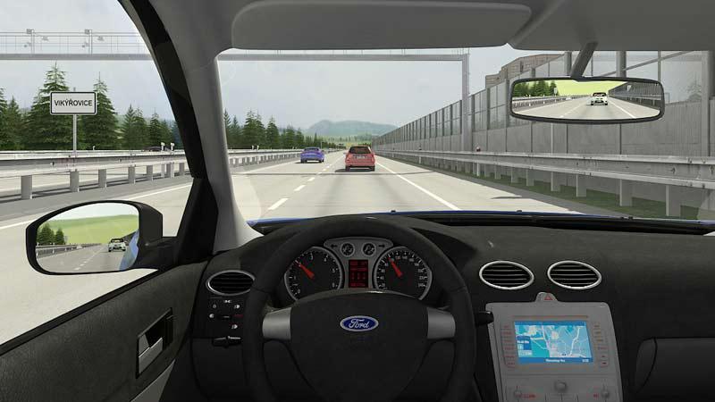 Ukázkové záběry z dopravní animace