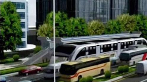 Vizualizace obřího autobusu