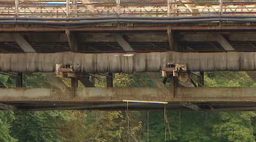 Detail mostní konstrukce