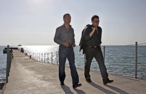 Bono Vox na návštěvě u Dmitrije Medveděva