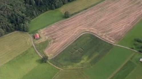 Hákový kříž v poli