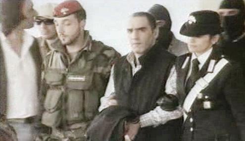 Zatčení italského mafiána