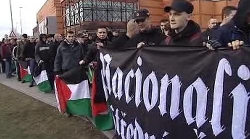 Pochod extremistů Plzní