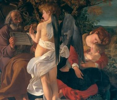 Caravaggio / Odpočinek na cestě do Egypta - detail