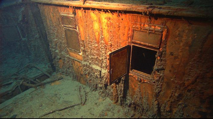 Detail vraku Titaniku