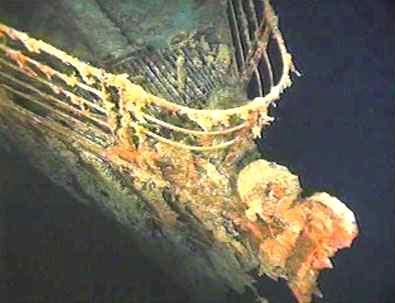 Část vraku Titaniku