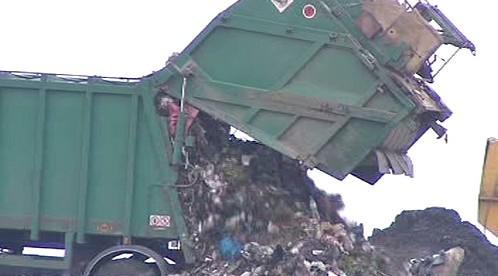 Ukládání odpadu na skládce