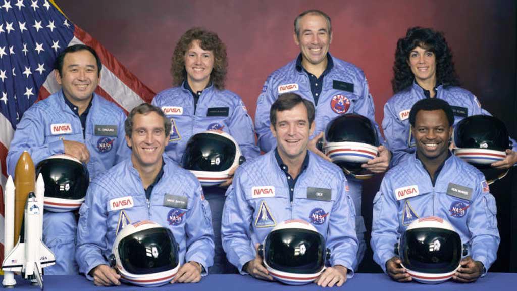 Posádka raketoplánu Challenger z roku 1986