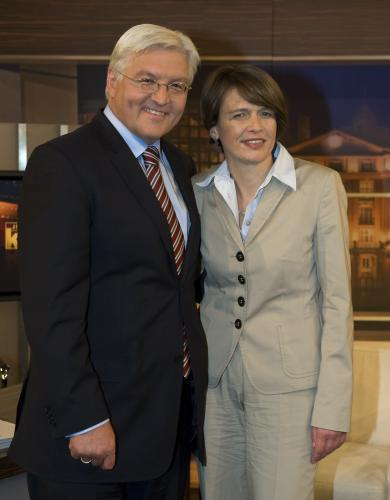 Frank-Walter Steinmeier s manželkou Elke