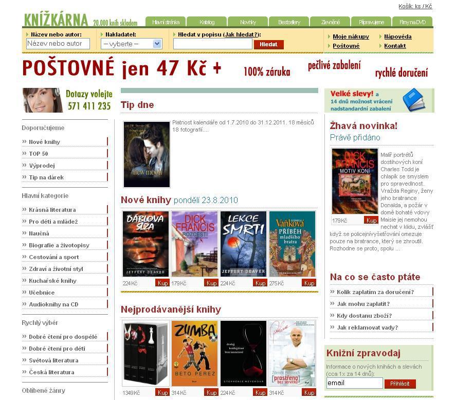 Elektronické knihkupectví Knížkárna.cz