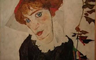Egon Schiele / Portrét Wally - detail