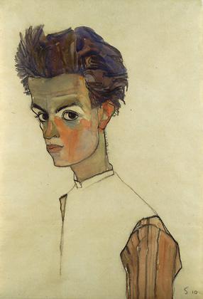 Autoportrét Egona Schieleho
