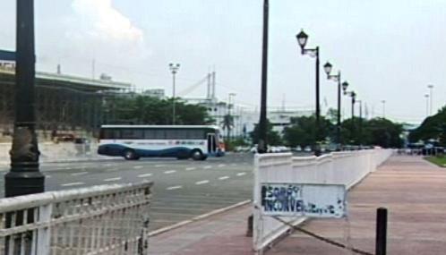 Autobus s rukojmími na Filipínách