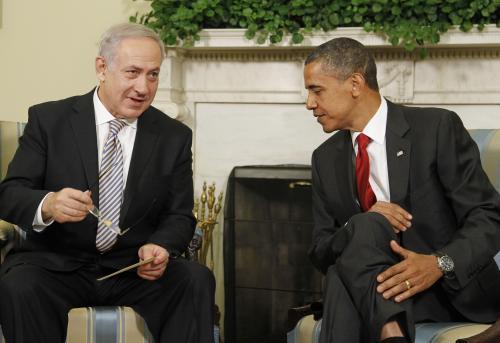 Benjamin Netanjahu na návštěvě u Baracka Obamy
