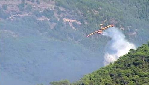 Hašení požárů na Ibize