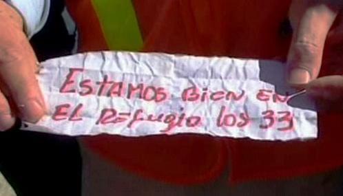 Vzkaz od zasypaných chilských horníků