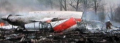 Trosky letounu polského prezidenta