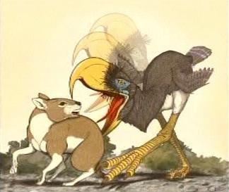 Lov prehistrorického ptáka Andalgalornis
