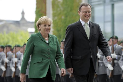 Angela Merkelová a Petrem Nečasem
