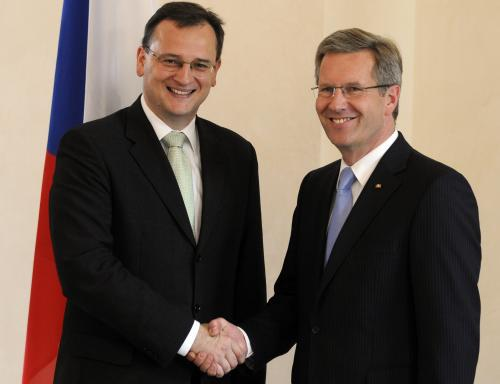 Petr Nečas a Christian Wulff