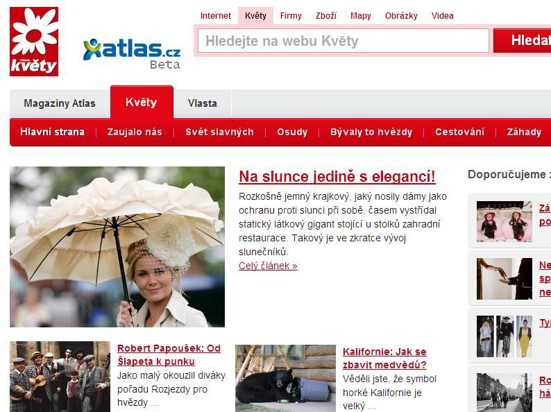 Časopis Květy na internetu