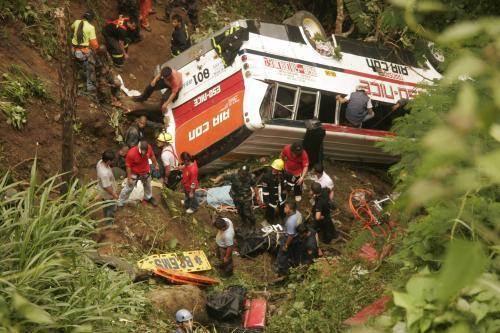Havárie autobusu na Filipínách