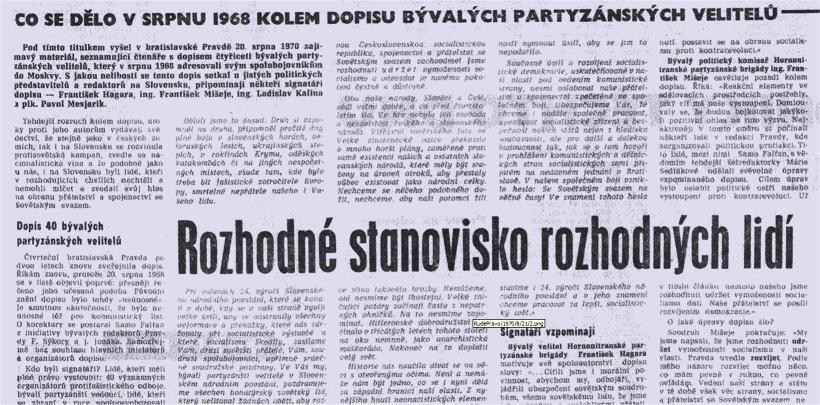 Rudé právo ze srpna 1970