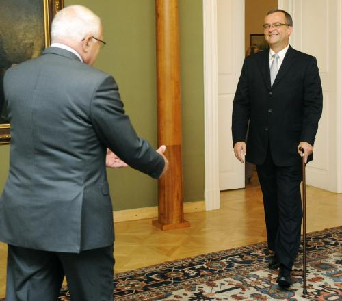 Václav Klaus a Miroslav Kalousek