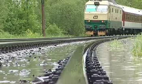 Zaplavená železnice