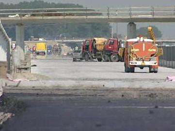 Rozestavěná silnice na Zlínsku