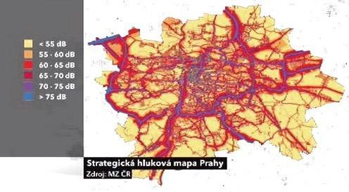 Strategická hluková mapa Prahy